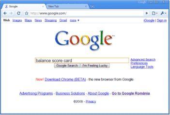 Balance Score Card en Google
