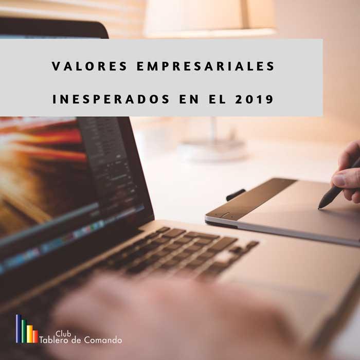 valores 2019, empresas, consumidores bienes y servicios, competencia, clientes, valores empresariales